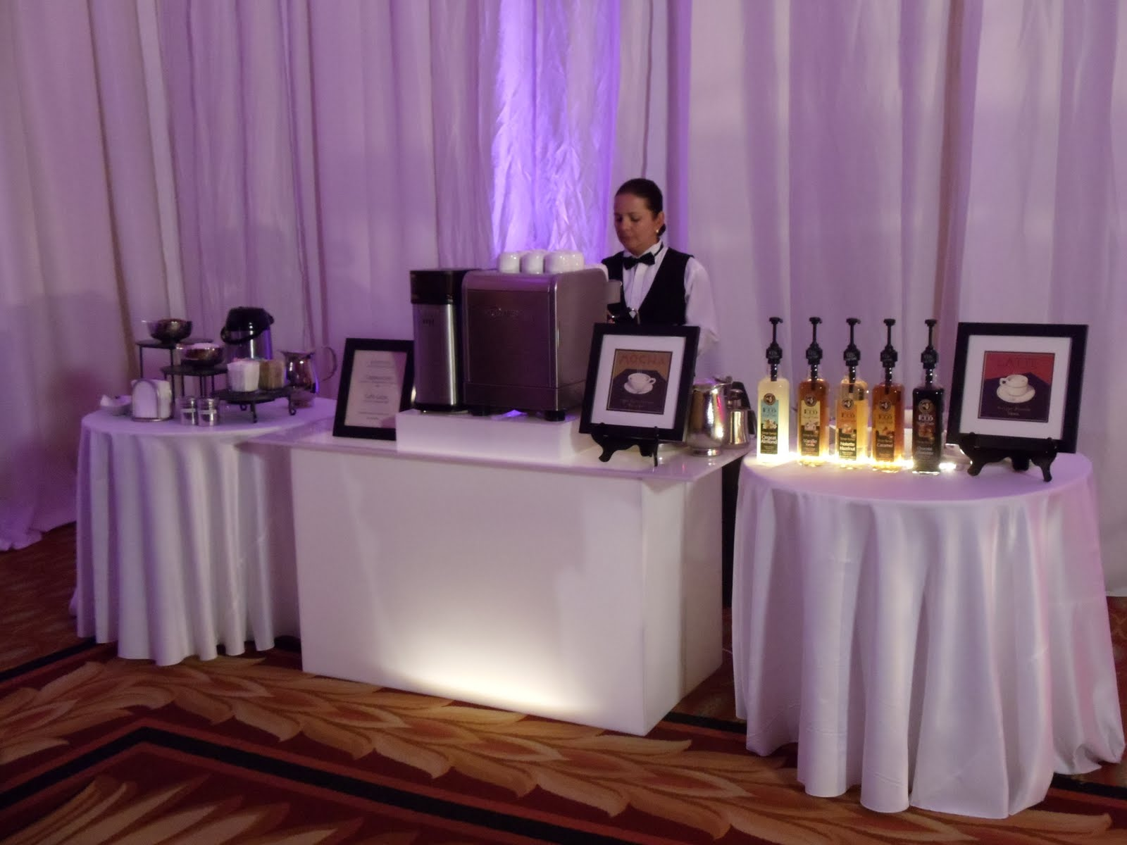 The wedding beverage service sf bartender for hire for Coffee bar for wedding